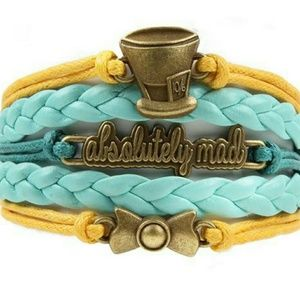 NWT Alice in wonderland theme bracelet
